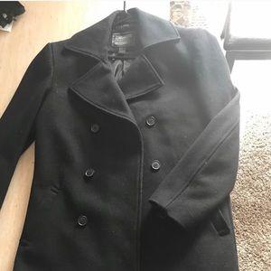 Men's Navy Double Breasted Peacoat Jacket Coat